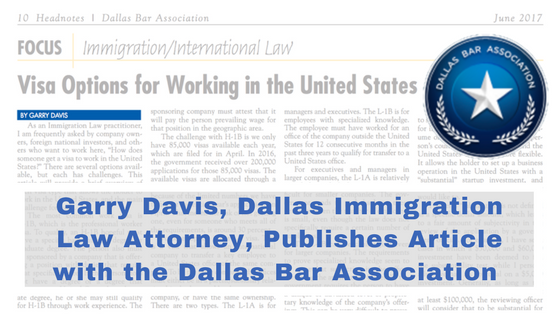 Davis & Associates | Garry Davis | Texas Immigration Law
