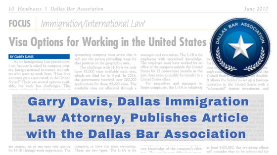 Davis & Associates | Garry Davis | Texas Immigration Law