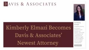 Kimberly Elmazi Becomes Davis & Associates' Fifth Attorney