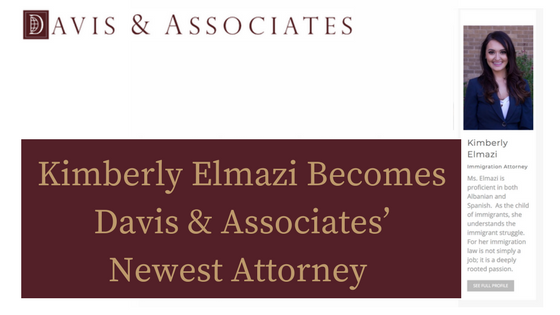 Kimberly Elmazi Becomes Davis & Associates' Fifth Attorney