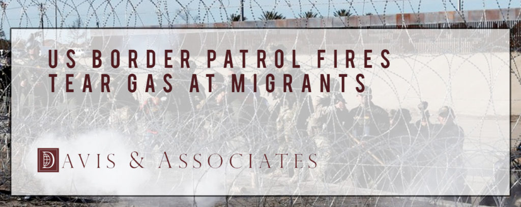 Border Patrol Fires Tear Gas Migrants