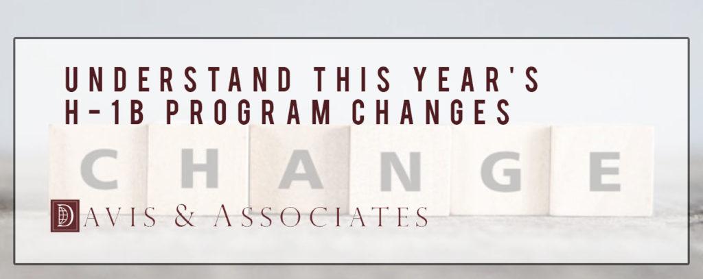 H-1B Program Changes