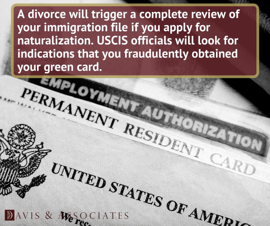 Divorced After Receiving a Green Card - Davis & Associates