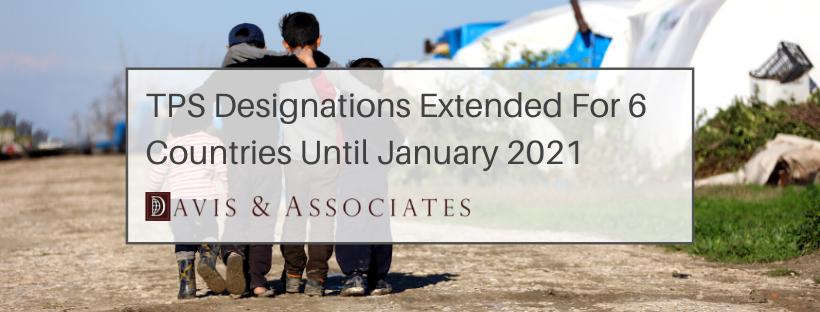 Temporary Protected Status Extended for El Salvador, Haiti, Nicaragua, Sudan, Honduras and Nepal