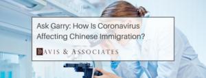 Coronavirus and Chinese Immigration