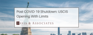 COVID-19 Update Dallas: USCIS Reopening with limits