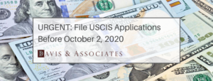 USCIS Fees increase 2020