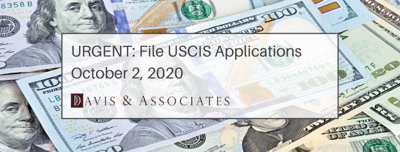 USCIS Application Fees Increase October 2, 2020