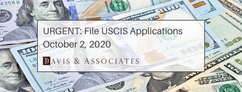 USCIS Application Fees Increase October 2, 2020