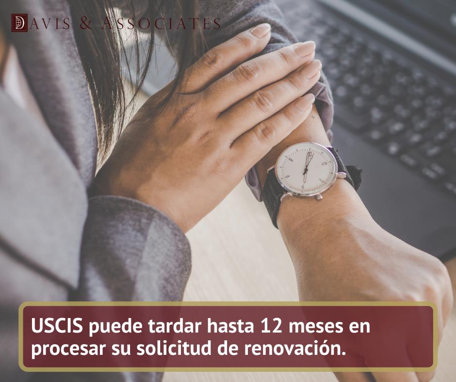 USCIS puede tardar hasta 12 meses