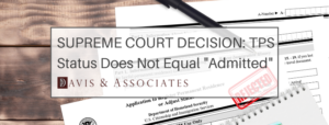 Supreme Court Temporary Protected Status TPS and Adjustment of Status